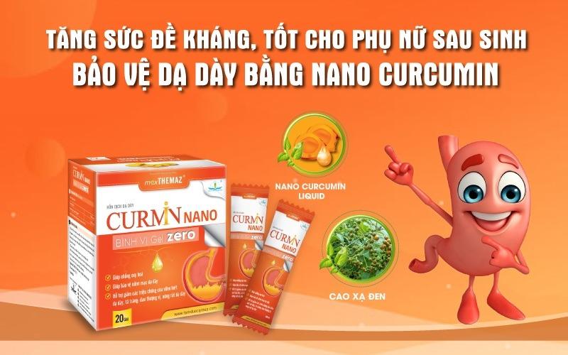 Curmin Nano Bình Vị Gel Zero giảm viêm đau trào ngược dạ dày tốt cho phụ nữ sau sinh