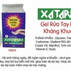gel rửa tay khô Xatapjim ngăn ngừa vi khuẩn virus sử dụng an toàn tiện lợi