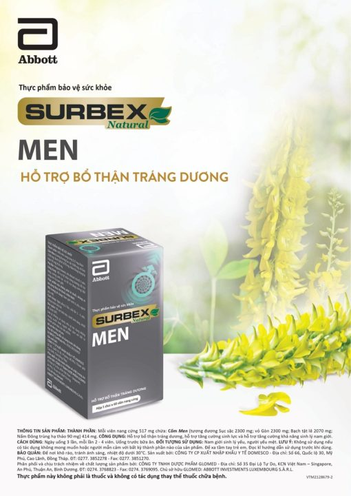 bổ thận tráng dương Surbex Men hỗ trợ tăng cường sinh lý nam giới chất lượng cao