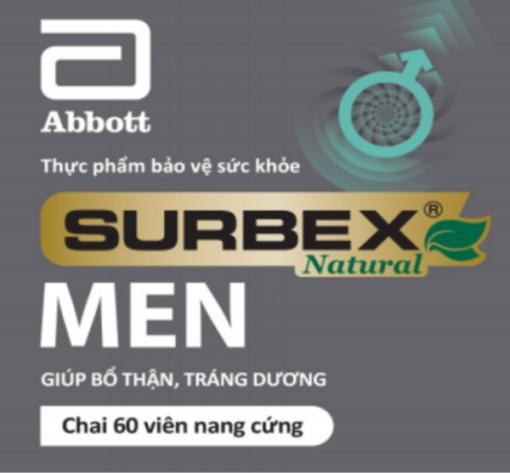 bổ thận tráng dương Surbex Men hỗ trợ tăng cường sinh lý nam giới thương hiệu Abbott