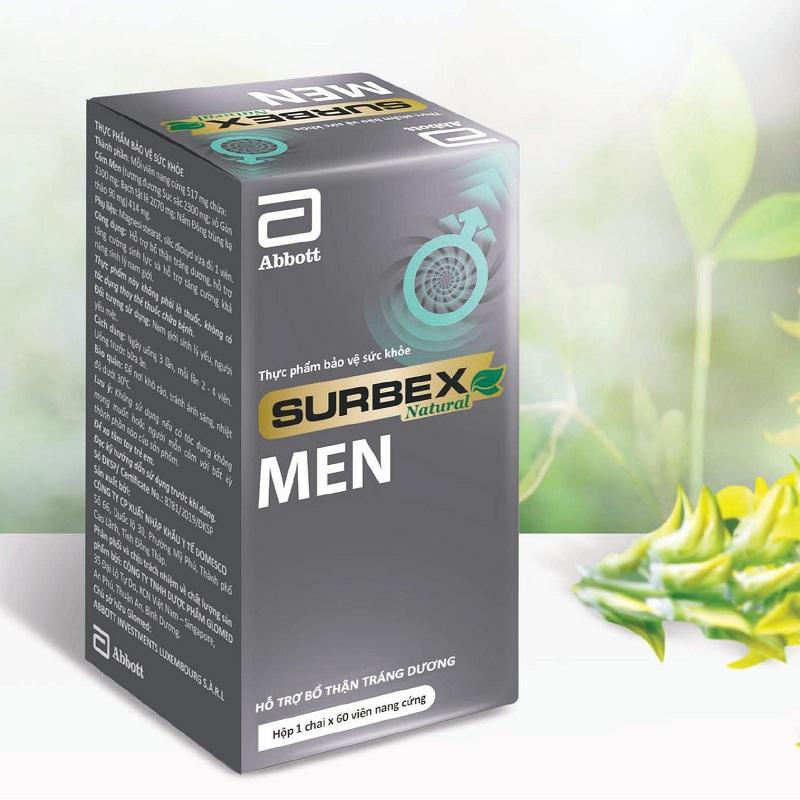bổ thận tráng dương Surbex Men hỗ trợ tăng cường sinh lý nam giới thành phần thảo dược
