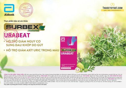 Surbex Urabeat hỗ trợ giảm acid uric sưng đau do gout gút chính hãng Abbott
