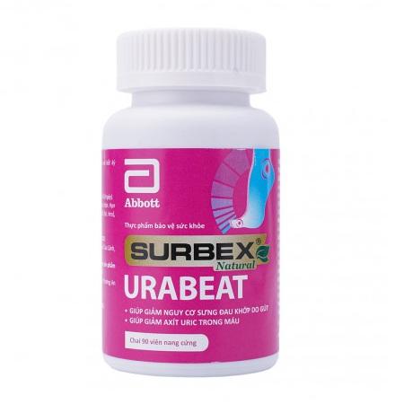 Surbex Urabeat hỗ trợ giảm acid uric sưng đau do gout gút lọ 90 viên