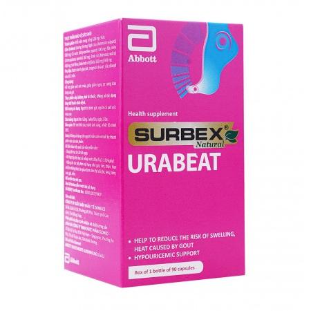 Surbex Urabeat hỗ trợ giảm acid uric sưng đau do gout gút thành phần thảo dược