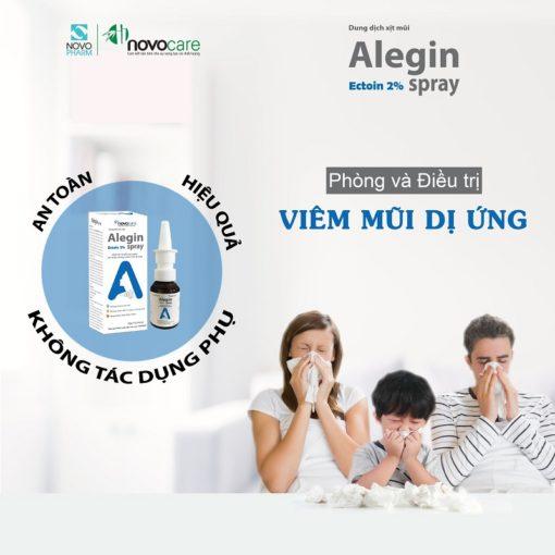xịt viêm mũi dị ứng Alegin an toàn cho trẻ nhỏ phụ nữ có thai an toàn hiệu quả
