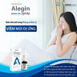 xịt viêm mũi dị ứng Alegin an toàn cho trẻ nhỏ phụ nữ có thai bước tiến mới