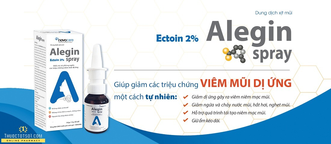 xịt viêm mũi dị ứng Alegin an toàn cho trẻ nhỏ phụ nữ có thai hàng chất lượng cao