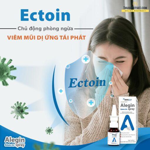 xịt viêm mũi dị ứng Alegin an toàn cho trẻ nhỏ phụ nữ có thai phòng ngừa tái phát