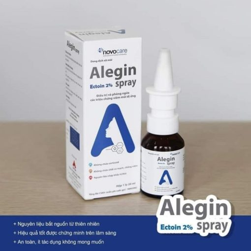 xịt viêm mũi dị ứng Alegin an toàn cho trẻ nhỏ phụ nữ có thai Ectolin