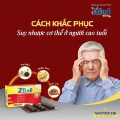 viên tăng lực Zbull bồi bổ cơ thể từ nhân sâm tỏi đen chống suy nhược người cao tuổi