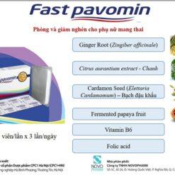 Fast Pavomin giảm ốm nghén chán ăn buồn nôn cho mẹ bầu thành phần thảo dược