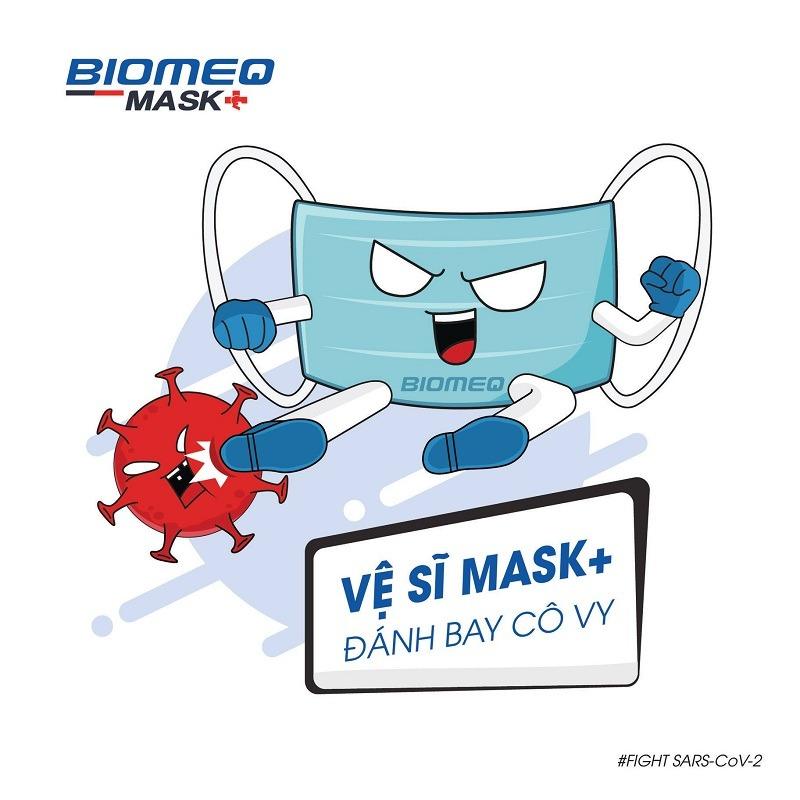 khẩu trang y tế Biomeq Mask kháng khuẩn vượt chuẩn đánh bay Covid