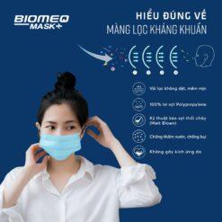 khẩu trang y tế Biomeq Mask kháng khuẩn vượt chuẩn màng lọc Ment Blown
