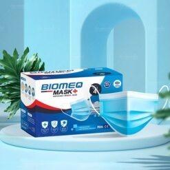 khẩu trang y tế Biomeq Mask kháng khuẩn vượt chuẩn màu xanh truyền thống