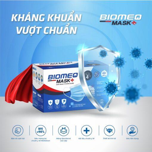 khẩu trang y tế Biomeq Mask kháng khuẩn vượt chuẩn thuoctotso1