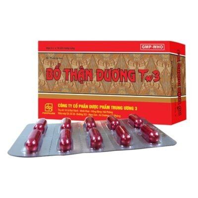 thuốc Bổ Thận Dương TW3 chủ trị tiểu đêm đau lưng mỏi gối thuoctotso1