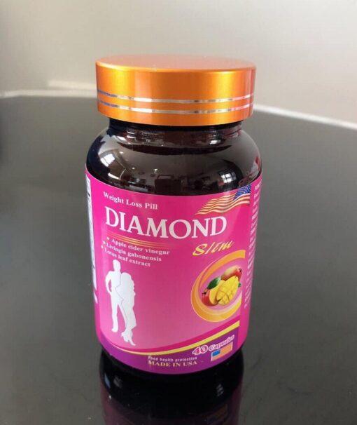 viên giảm cân Mỹ Diamond Slim giúp giảm béo an toàn hiệu quả lọ 40 viên