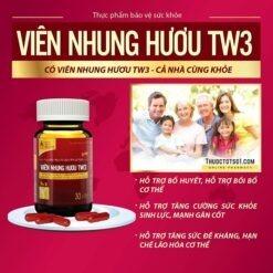 Viên Nhung Hươu TW3 bổ huyết mạnh gân cốt bồi bổ cơ thể tăng sức đề kháng