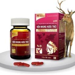 Viên Nhung Hươu TW3 bổ huyết mạnh gân cốt bồi bổ cơ thể thuoctotso1