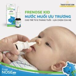 xịt thông mũi Freenose Kid giúp loãng chất nhầy thông thoáng mũi cho bé nước muối ưu trương