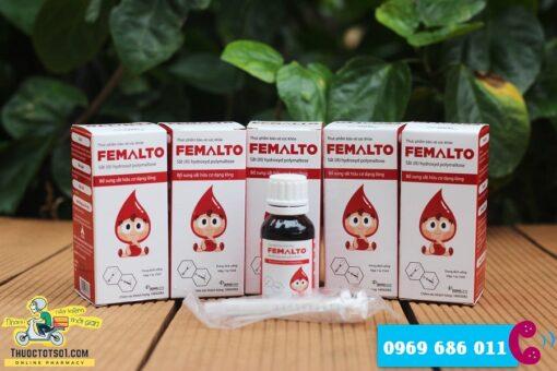 sắt nguyên tố Femalto sắt hữu cơ nhỏ giọt hàm lượng cao hotline đặt hàng