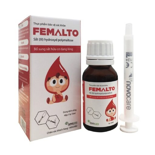 sắt nguyên tố Femalto sắt hữu cơ nhỏ giọt hàm lượng cao thuoctotso1