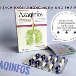 viên bổ phổi Mỹ Azaqinfos làm sạch ngăn ngừa nhiễm độc phổi ung thư phổi